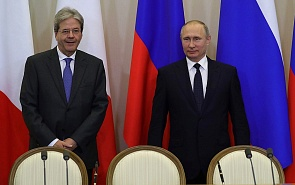 Paolo Gentiloni in Russia: Italy Does Not Like Sanctions, But It Does Not Have Enough Power to Revoke Them